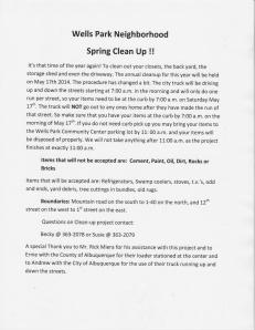 Spring Cleanup flyer