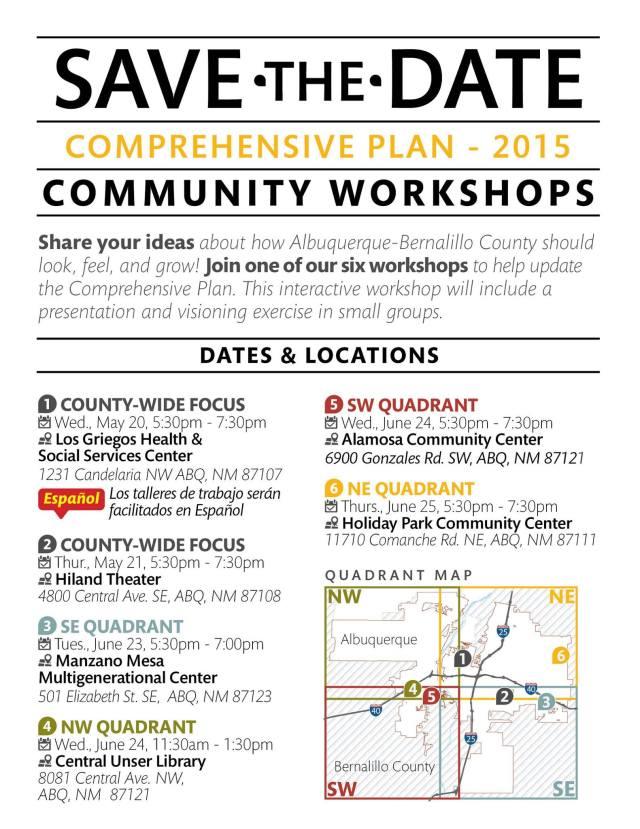 Zoning Comprehensive Plan community workshops