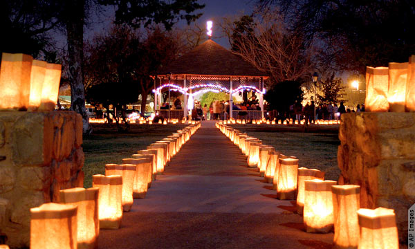 Old Town Plaza Holiday Luminarias