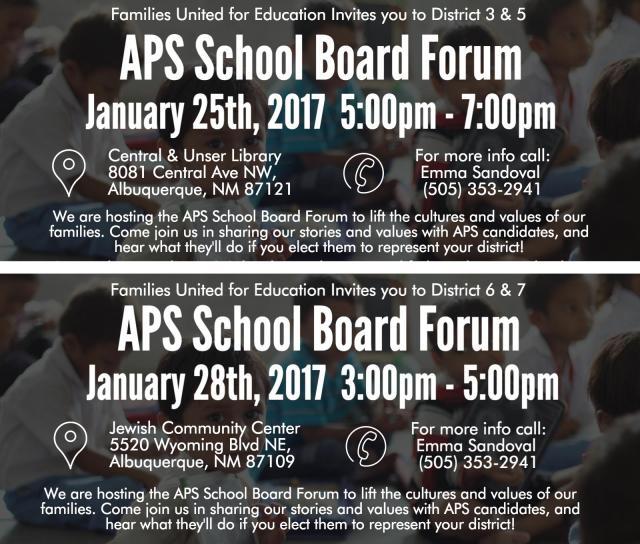 APS School Board Forum 2017
