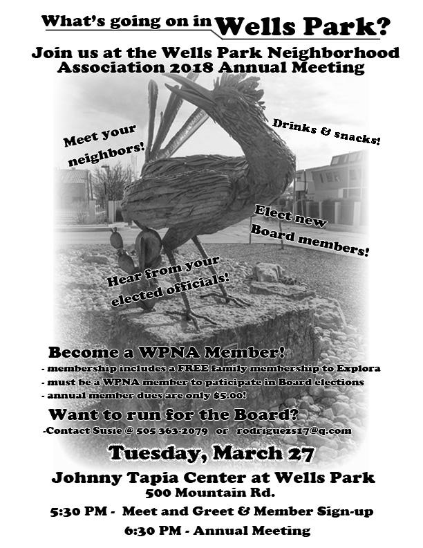 Wells Park Neighborhood Association | The official website